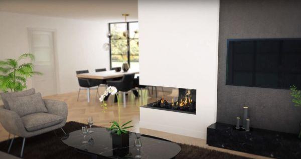 43/105/38/105 газ Room Divider Large-3 frameless